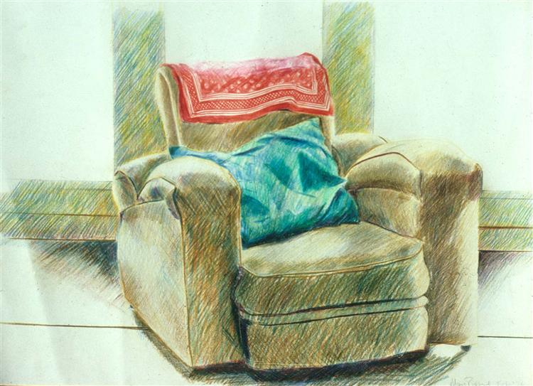 big armchair coloured pencils