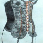 corset 1 pencil and watercolour