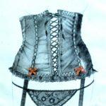 corset 2 pencil and watercolour