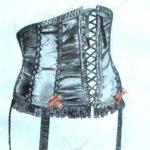 corset 3 pencil and watercolour