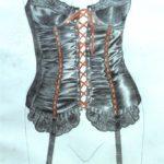 corset 4 penciland watercolour