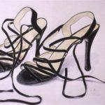 shoes 1 coloured pencils